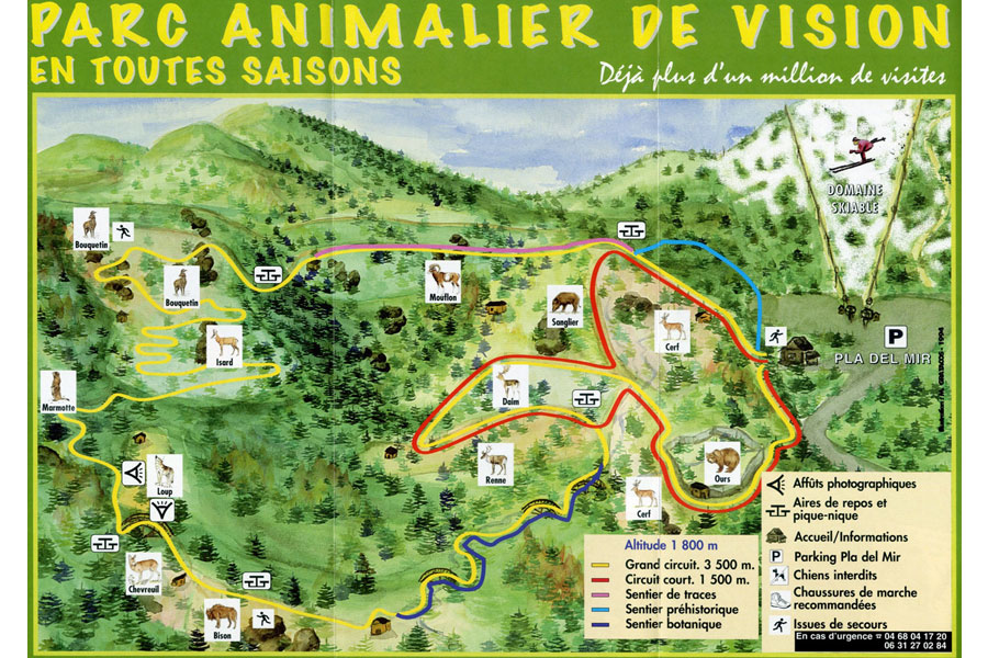 Activite Parc Animalier Les Angles 1 Roc Del Boc Location Gite de France